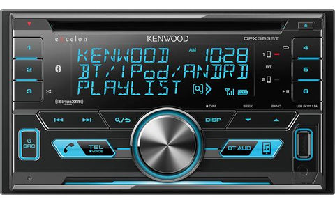 Kenwood Excelon Double Din CD Receiver DPX593BT