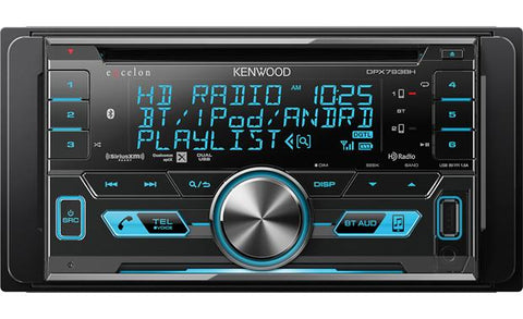 Kenwood Excelon Double Din CD Receiver DPX793BH