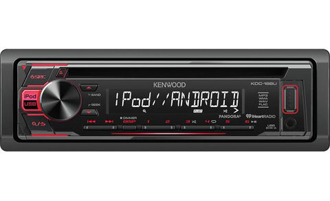 Kenwood Single Din CD Receiver KDC-168U