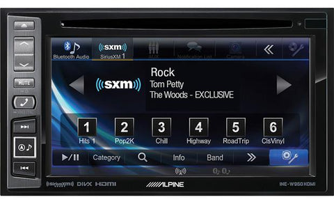 "Alpine 6.1"" Double Din Navigation Receiver with DVD/CD INE-W960HDMI"