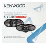 "Kenwood 4"" x 10"" 2-Way Speakers KFC-415C"
