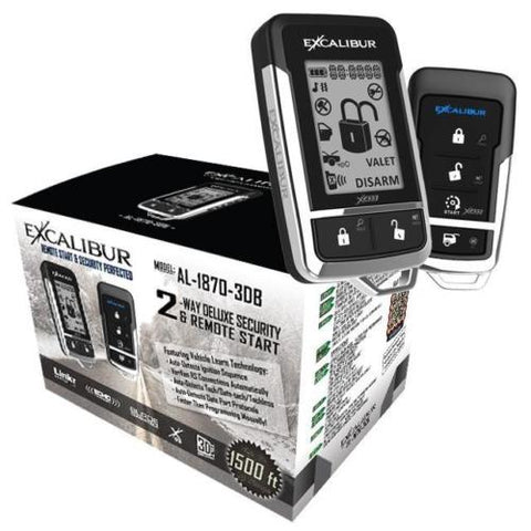 Excalibur 2-Way Remote Start Keyless Entry System AL-1870-3DB