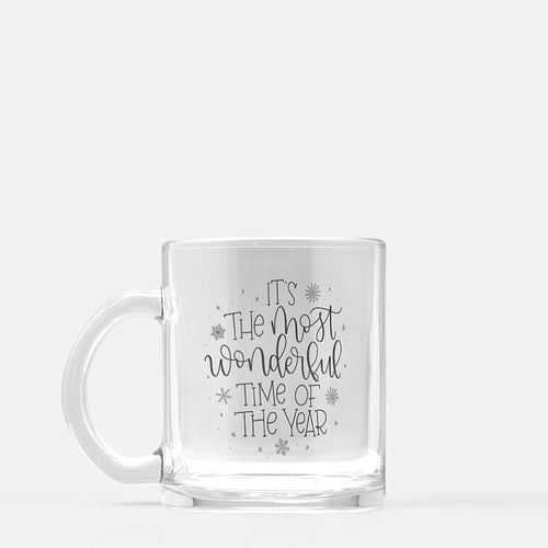 The Most Wonderful Time - Glass Mug