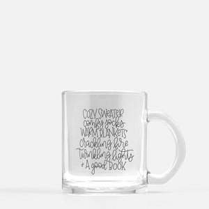 Winter Favourites Glass Mug
