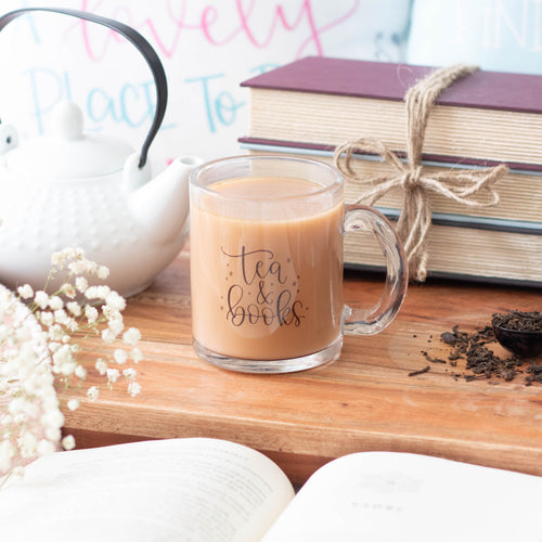 Tea And Books Glass Mug
