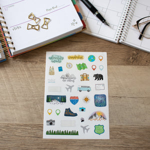 Adventure Awaits Planner Stickers