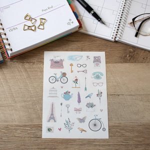 Paris in Pastel - Planner Stickers