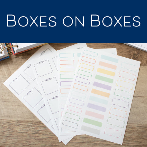 Boxes on Boxes - Set of 4 Planner Stickers
