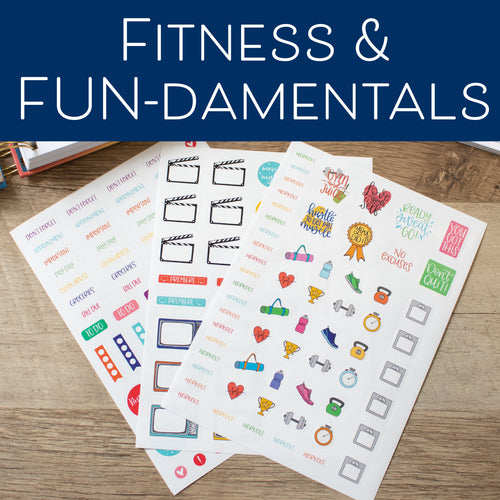 Fitness & FUN-damentals - Set of 3 Planner Stickers