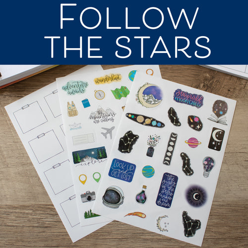 Follow the Stars - Set of 3 Planner Stickers