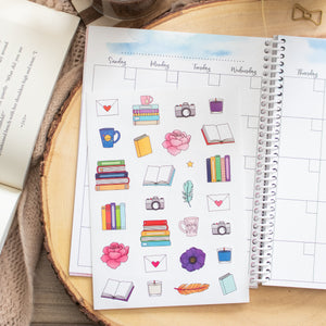 Book Lover Planner Stickers
