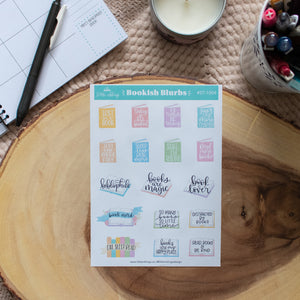 Bookish Blurbs - Planner Stickers