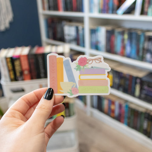 Book Stack - Vinyl Sticker