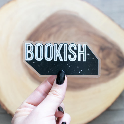 Bookish - CLEAR - Vinyl Sticker