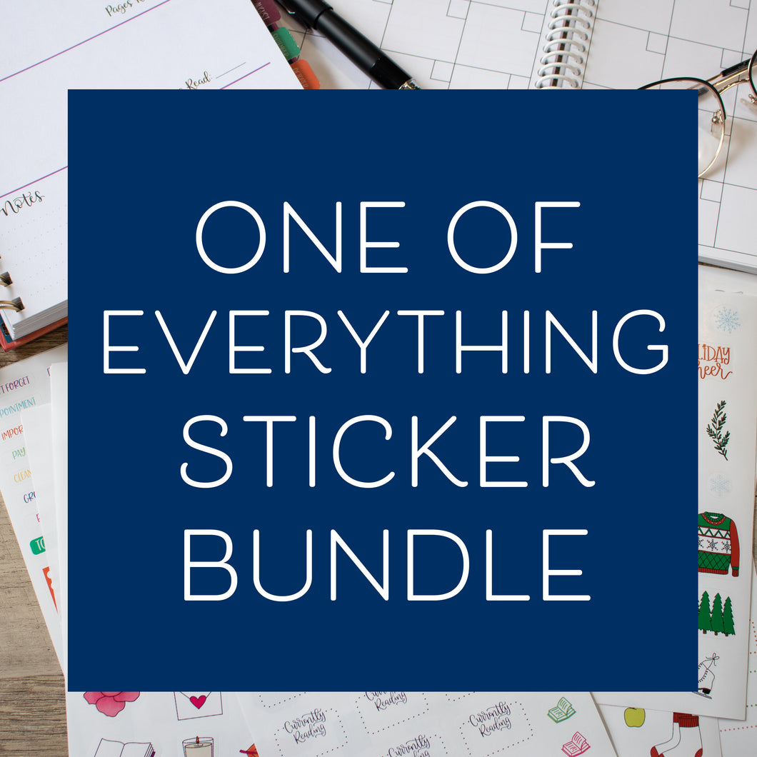 One of Everything - Set of 20 Planner Stickers
