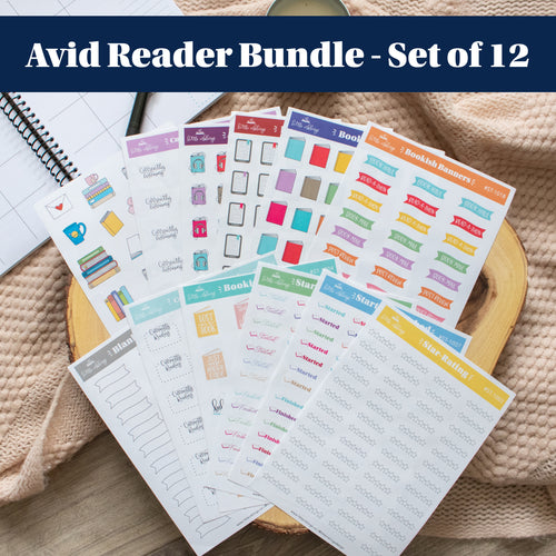 Avid Reader Bundle - Set of 12 Planner Stickers