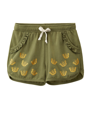 Green Butterfly Shorts