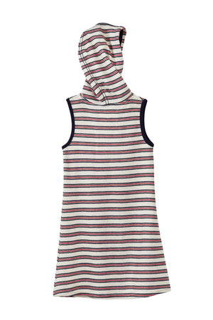 Hooded Striped Dress