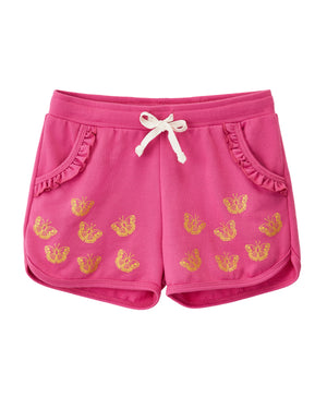 Pink Butterfly Shorts