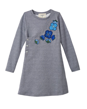 Himalayan Blue Poppy Dress