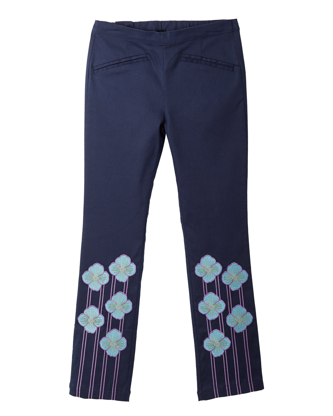 Blue Poppy Trousers Navy