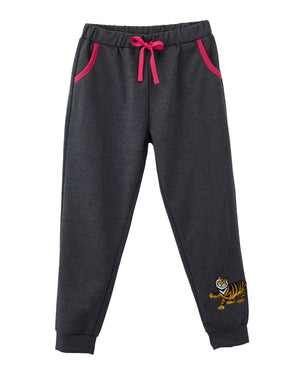 Pagoda Tiger Printed Sweatpants Dark Heather