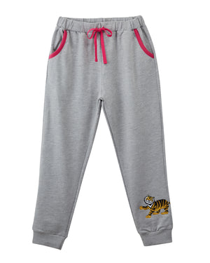 Pagoda Tiger Printed Sweatpants Light Heather