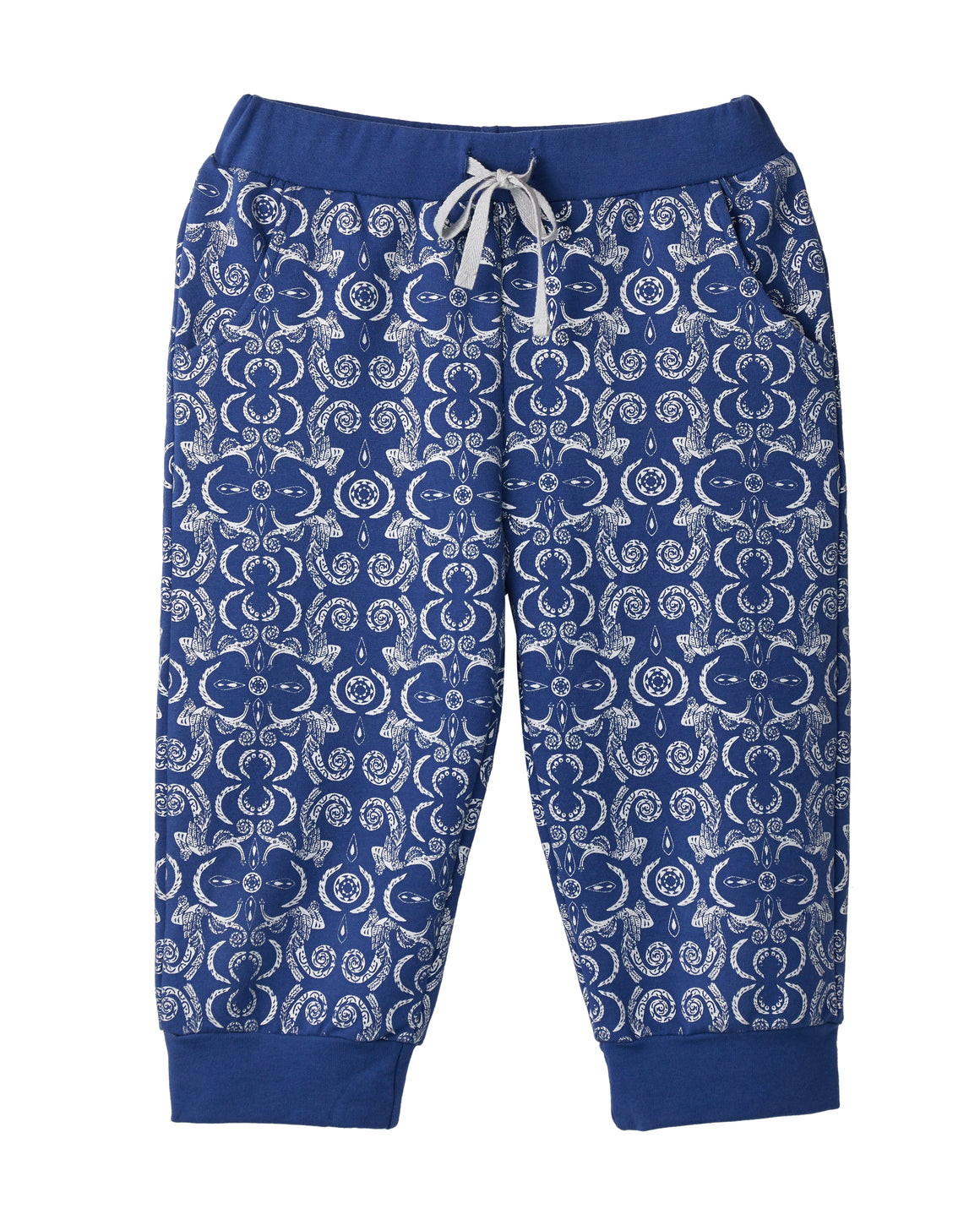 Tribal 3/4 Joggers - Blue