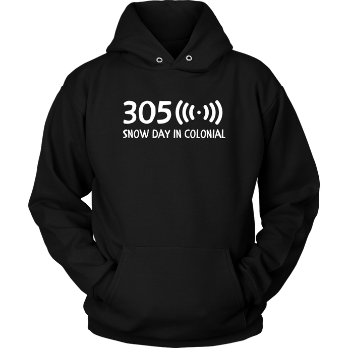 305 Snow Day in Colonial Hoodie - Adult