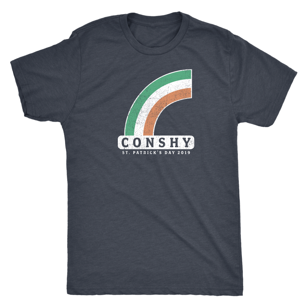 Conshy St. Patricks Day 2019 Rainbow Mens Triblend T-Shirt
