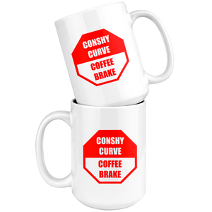 Conshy Curve Coffee Brake 15oz Ceramic Mug