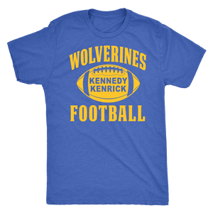 Kennedy Kenrick Wolverines Football Mens T-Shirt