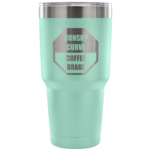 TRAFFIC JAM: 30oz Conshy Curve Coffee Brake Tumbler