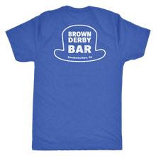 Brown Derby Bar Double Sided Mens Triblend T-Shirt