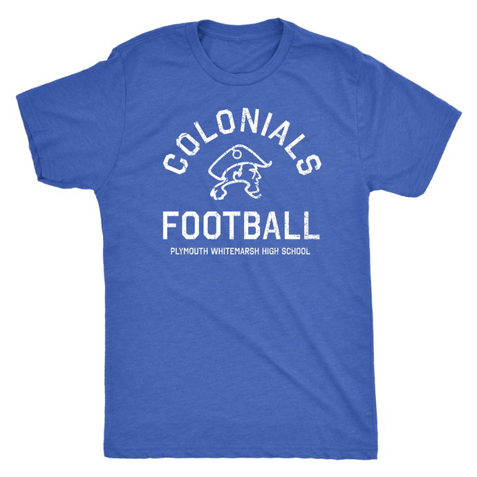 PW Colonials Football Mens Triblend Tshirt