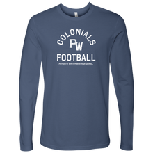 PW Colonials Football Mens 100% Cotton Long Sleeve Shirt