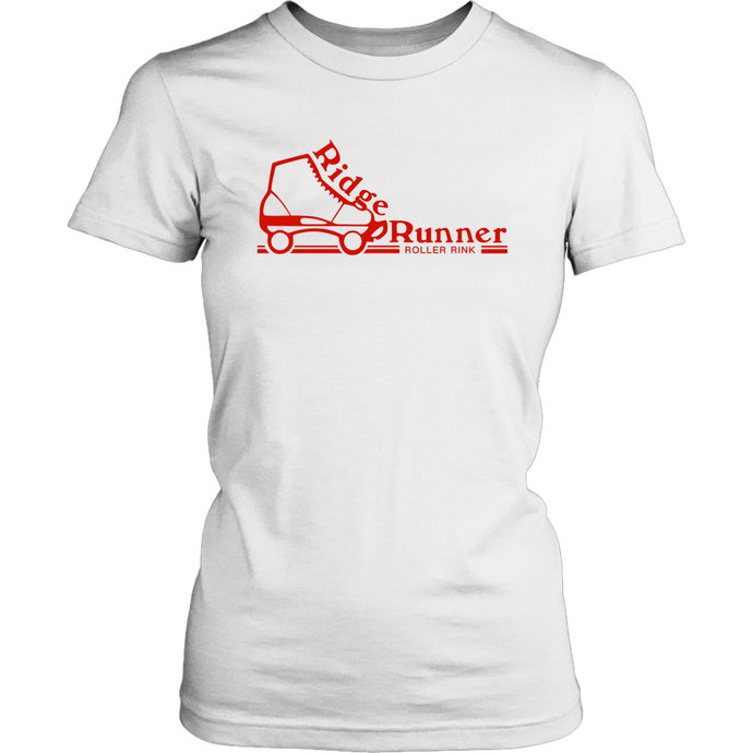 Ridge Runner Roller Rink Classic Red Womens T-Shirt