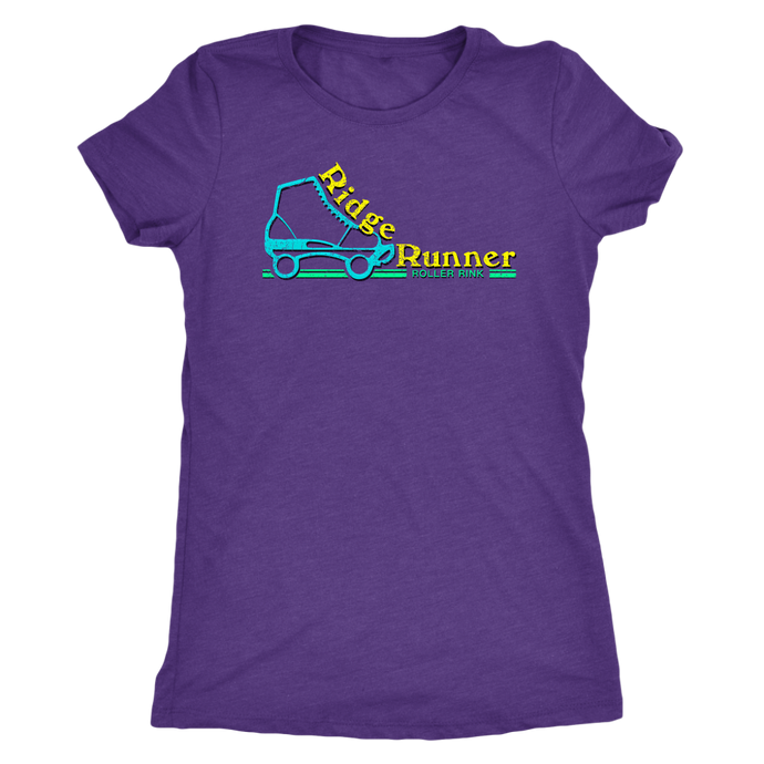 Ridge Runner Roller Rink Retro Womens Triblend T-Shirt