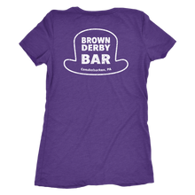 Brown Derby Bar Double Sided Womens Triblend T-Shirt