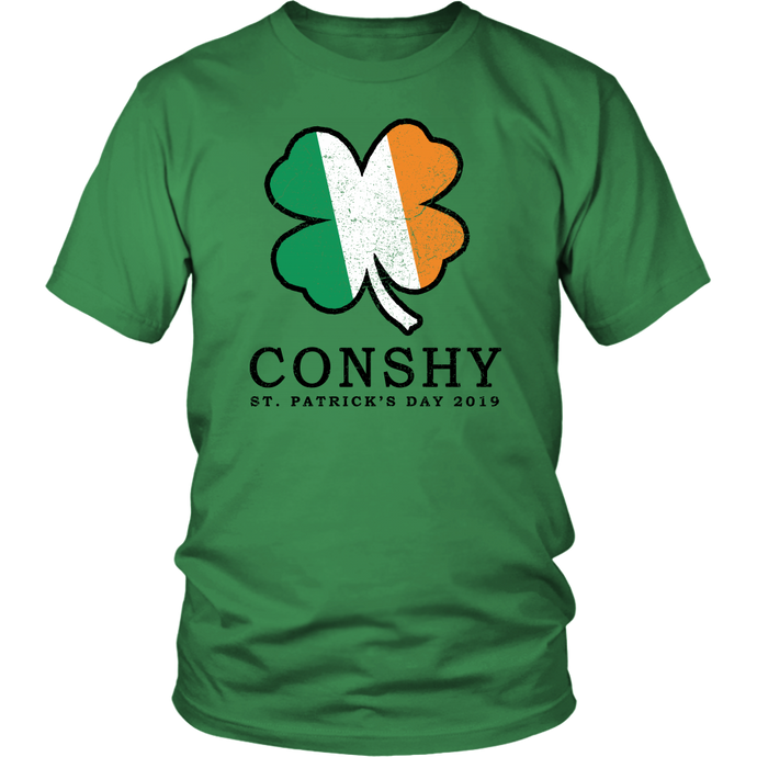 Conshy St. Patricks Day 2019 Shamrock Unisex T-Shirt