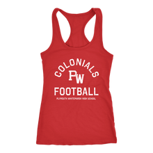 PW Colonials Football Womens Racerback Tank