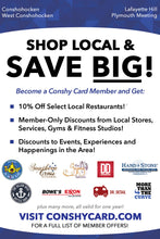 Conshy Card™ - Save BIG when you Shop Local