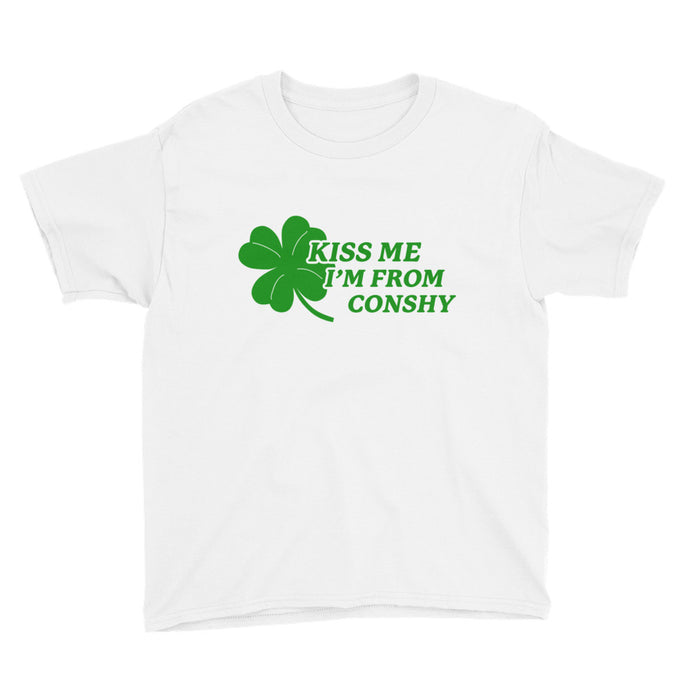 Kiss Me I'm From Conshy Youth Short Sleeve T-Shirt