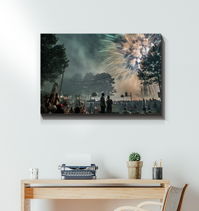 Conshohocken Independence Day Fireworks Scene 32 x 48