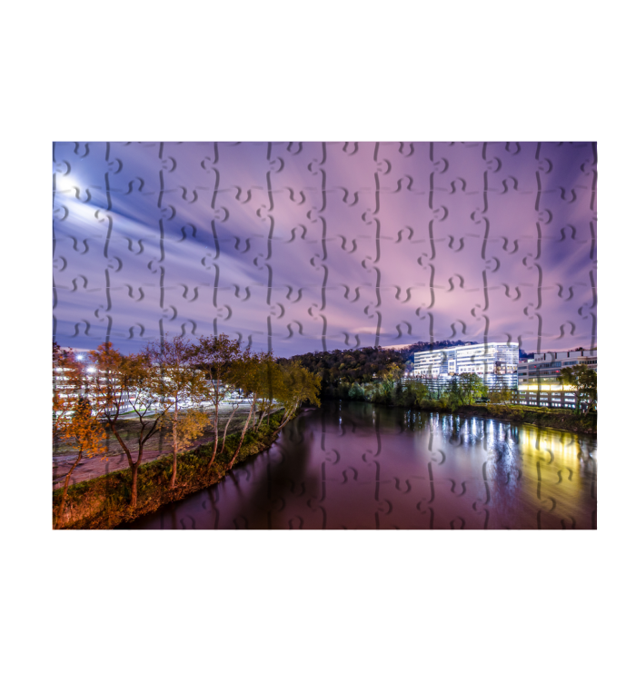 Conshohocken Riverfront at Night Puzzle