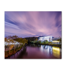 Conshohocken Night River Scene 20 x 24 Horizontal Canvas