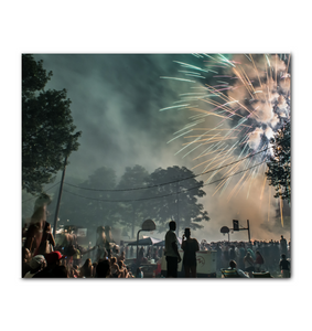 Conshohocken Independence Day Fireworks Scene 20 x 24 Horizontal Canvas copy