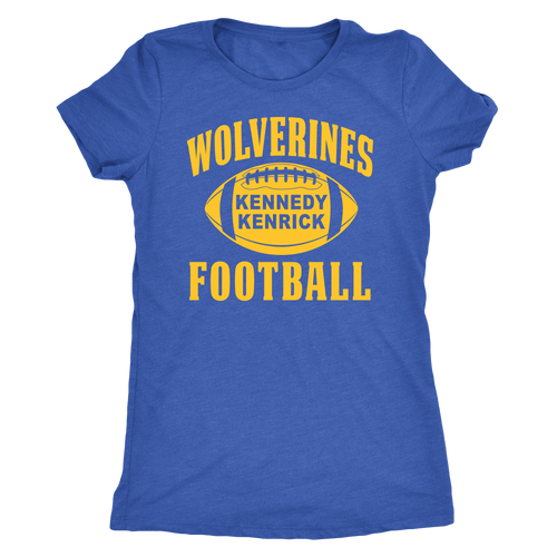 Kennedy Kenrick Wolverines Football Womens T-Shirt