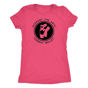 Support the Arts Conshy Ballet Womens Pink T-Shirt