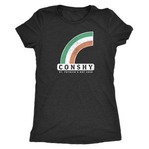 Conshy St. Patricks Day 2020 Rainbow Womens Triblend T-Shirt